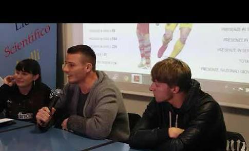 VIDEO Cremonese, Ciofani e Crescenzi al liceo Aselli di Cremona