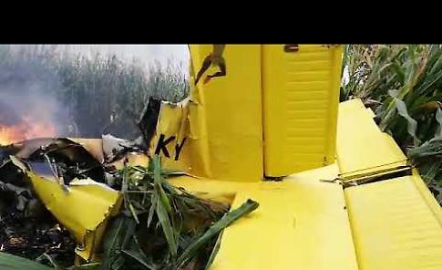VIDEO Aereo precipitato, le prime immagini subito dopo lo schianto al suolo