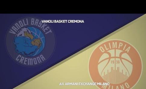 VIDEO Vanoli Cremona - AX Armani Exchange Milano 82-78