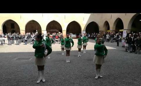 IL VIDEO Fiera di primavera di Pandino: le majorettes