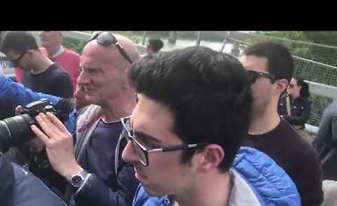 VIDEO2 La visita del ministro Toninelli al ponte sul Po