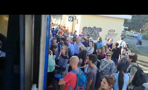 VIDEO I viaggiatori pendolari alla stazione di Crema