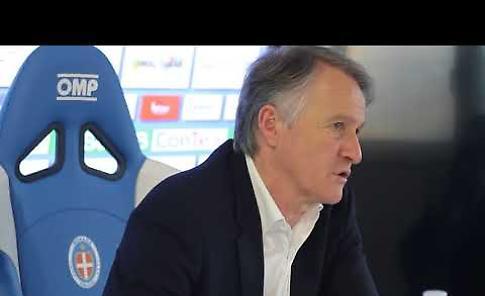 VIDEO Novara-Cremonese, mister Attilio Tesser in sala stampa