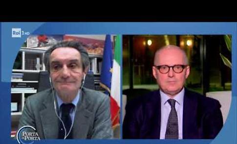 VIDEO Il confronto tra Gianluca Galimberti e Attilio Fontana a 'Porta a porta'
