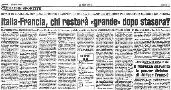 Italia Francia Chi Restera Grande Dopo Stasera La Provincia